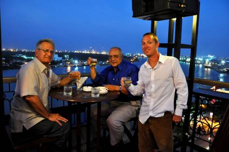 Frank, Roy and Silas Majestic Hotel Roof Top Bar