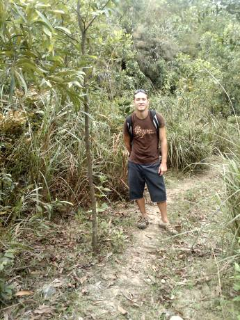 Silas (Frank's son) in jungle west of DaNang, Viet-nam