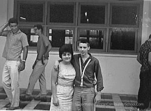 Saigon Kids. Circa 1962. Bobbie Sheehan and David Henry at American Community School Saigon. Ken Yeager Collection
