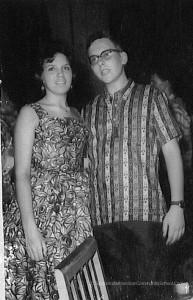 Donna Smith and Ken Yeager American Community School Saigon. Circa 1962. Ken Yeager Collection.