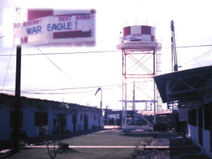 In the fall of 1969 I climbed up the water tower at the Vietnamese III Corps HQ in Bien Hoa and affixed it. The American chief of staff for MACV Team 95 was outraged, but not so his boss BG Carleton Preer, Jr., Auburn '39. Auburn 49, Bama 26. War Eagle! Circa 1969. Bruce Thomas Collection.