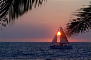 Sail sunset touch sun