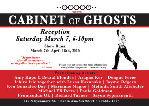 CABINET of GHOSTS Invitation.