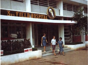 Nurses at 3rd Field Hospital Saigon. Circa 1965-73. Robert C. Lafoon Collection.