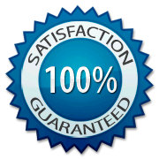 100% Satisfaction Guaranteed-blue