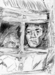 Drawings by Frank Stoddard while in Viet Nam. Circa 1967 Frank Stoddard collection.