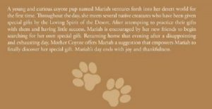 Mariah's Gift back cover